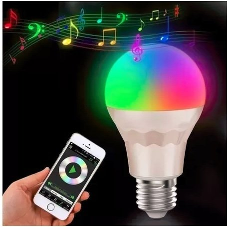 Led Bulbo Rgb Bluetooth 10w Smart Control Celular