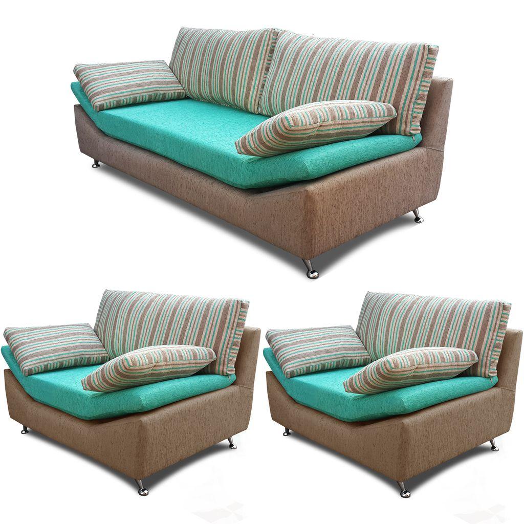 juego de living sofa cuerpos modelo ibera con tela premiun