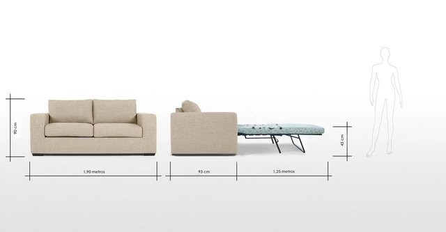Sillon sofa 3 cuerpos cama 2 plazas fabrica - Medidas sofa cama 2 plazas ...