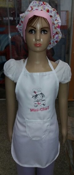 "Avental Infantil Bordado - ""Mini Chef""*"