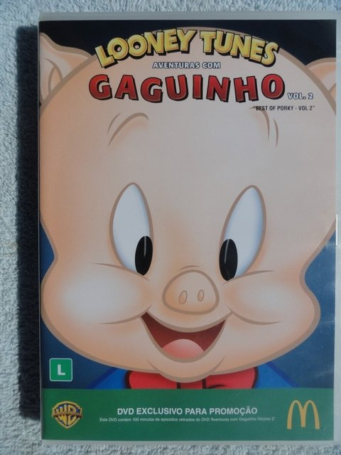 Dvd - Loney Tunes - As aventuras com Gaguinho - novo