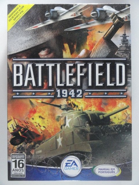Battlefield 1942 Jogo P/ Pc - Novo Original C/ 2 Cd E Manual