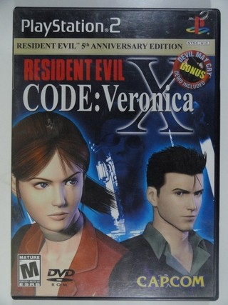 Resident Evil Code Veronica X + Devil May Cry - 2 Mídias Para Ps2 PlayStation - Original - Importado - Completo - Capcom