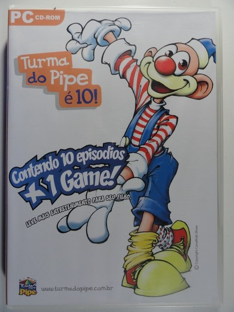 PC Cd-Rom - Turma do Pipe é 10  (10 episódios + 1 Game) - Para ser jogado e assistido no PC - Novo e Lacrado
