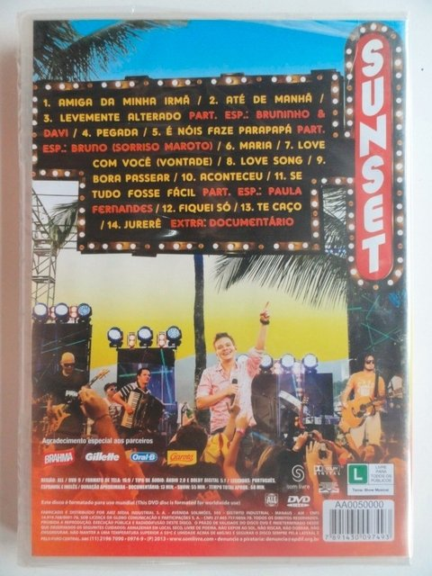 DVD - Michel Teló - Sunset - Novo e Lacrado - Sertanejo na internet