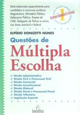 Questoes De Multipla Escolha - Elpidio Donizetti Nunes
