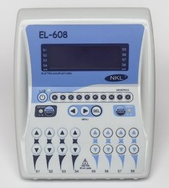 EL-608 NKL Eletroestimulador 8 canais C/ bateria recarregável