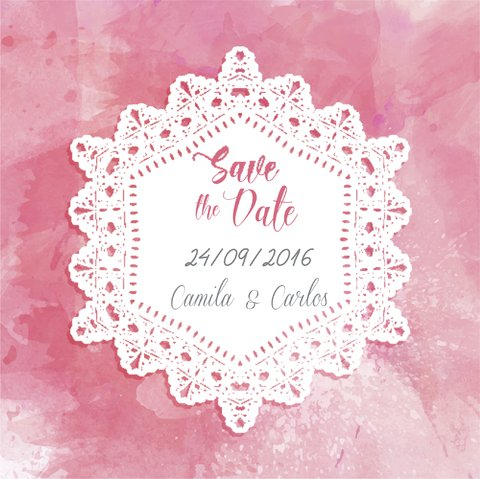 Arte digital Save the Date - Modelo 02 - comprar online