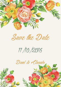 Arte digital Save the Date - Modelo 04 - comprar online