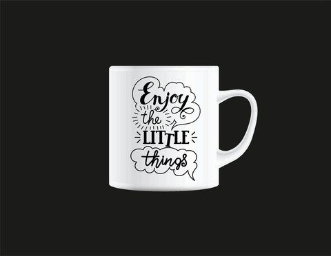 Caneca enjoy the little things na internet