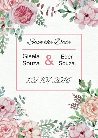 Arte Digital Save The Date - Modelo 06 - comprar online