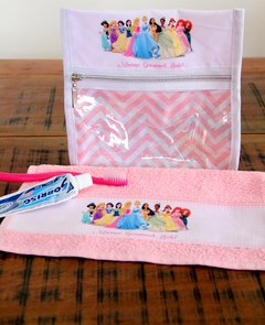Kit higiene bucal princesas da disney