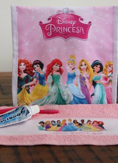 Imagem do Kit higiene bucal princesas da disney