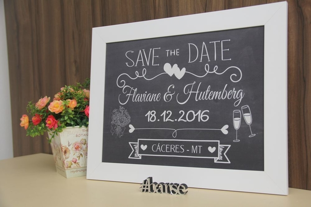 Quadro Save the Date na internet