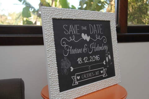 Save the Date - com pérolas