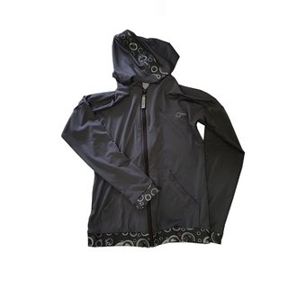 Campera Supplex c/ capucha c/ cintura y puños combinados Mujer Few (254) - AdventuresShop