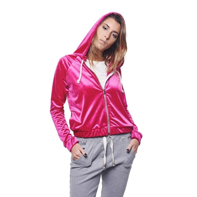Campera Buzo Light Fucsia