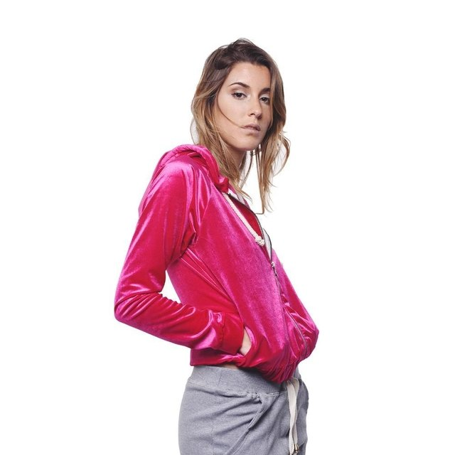 Campera Buzo Light Fucsia en internet