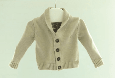 Cardigan cuello smocking arena
