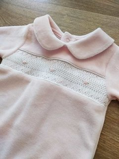 Enterito plush smock rosa