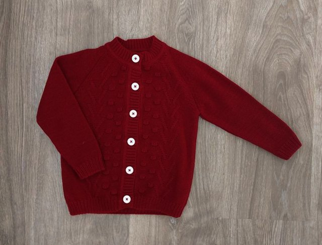 Cardigan Portugal rojo