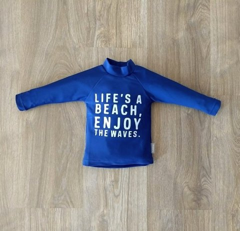 Remera Lifes a Beach Protección UV