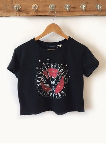 REMERA MUSIC VELVET CROPPED