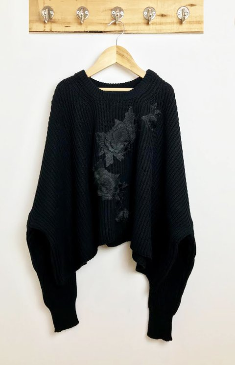 SWEATER OVERSIZE PATCH FLOR