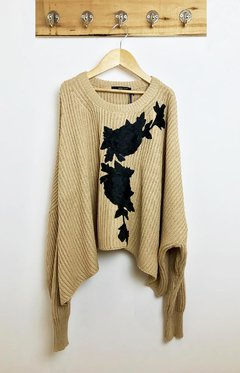 SWEATER OVERSIZE PATCH FLOR - comprar online
