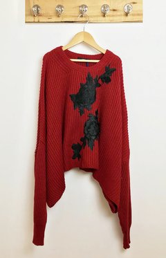 SWEATER OVERSIZE PATCH FLOR en internet