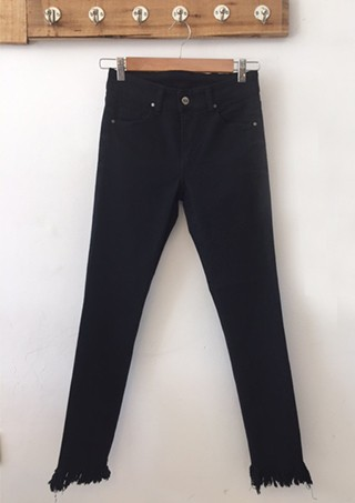 LULY DENIM BLACK FLECOS