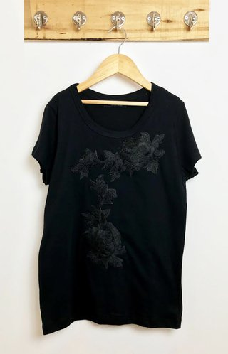 Remera patch flor