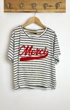 Remera Merci stripe