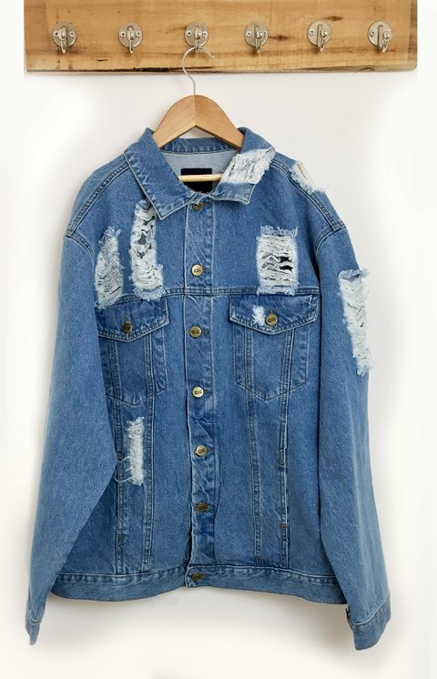 JACKET DENIM BIG DESTROYER