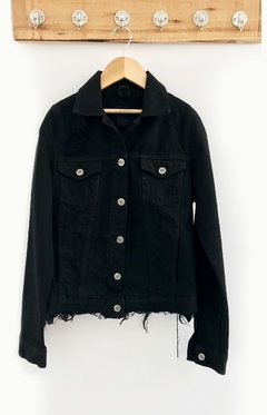 JACKET DENIM CON CINTURA