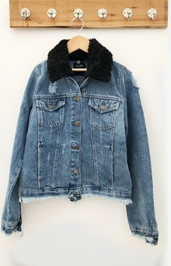 JACKET DENIM CUELLO ROSE MELODY - comprar online