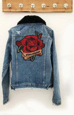 JACKET DENIM CUELLO ROSE MELODY