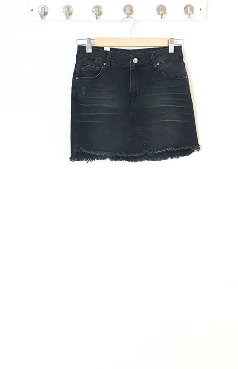 Pollera gigi black denim