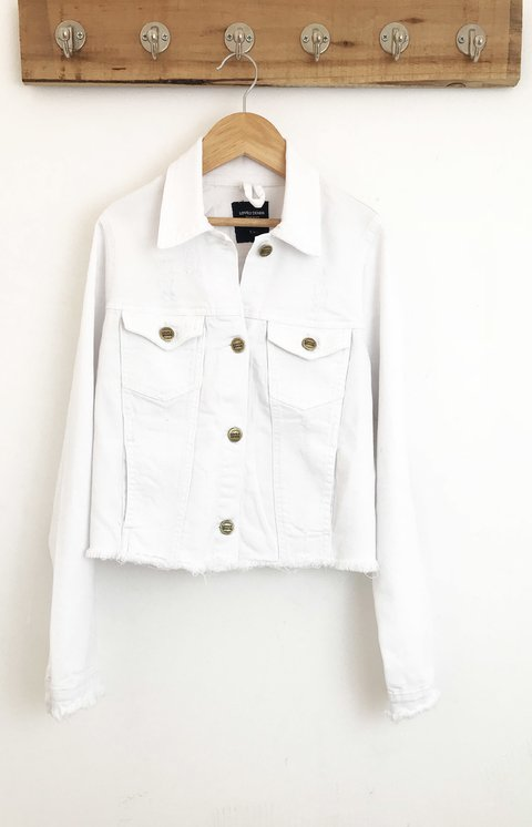 JACKET WHITE SIN CINTURA