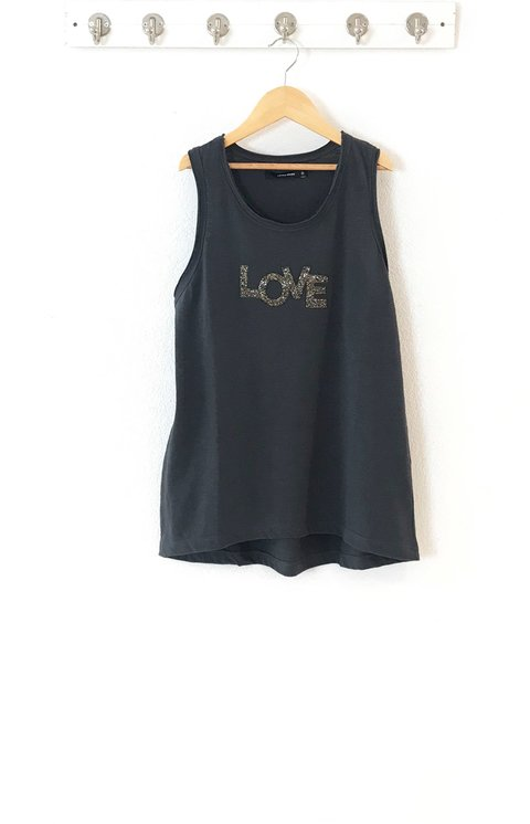 MUSCULOSA  LOVE - LOVELY DENIM