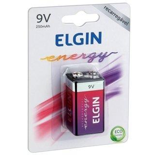 Bateria Recarregável 9V 250mAh Elgin