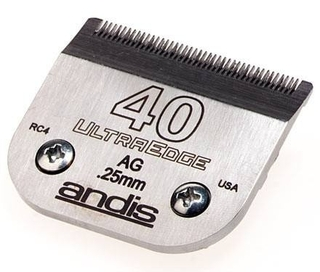 Cuchilla ANDIS Nº 40 UltraEdge (0,25 mm) Compatible con WAHL, MOSER, OSTER y GTS