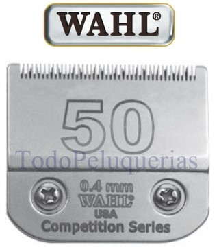 CUCHILLA MARCA WAHL Nº 50 (0,4mm) COMPATIBLE CON ANDIS (AGC2, PROPET) OSTER (A5, A6) MOSER (MAX45, KM2, KM5, KM10) GTS 888 u OVEJA NEGRA LCP001