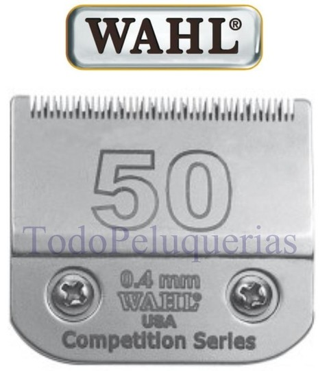 Cuchilla Marca WAHL Nº 50 (0,4mm) Compatible con ANDIS, MOSER, OSTER y GTS