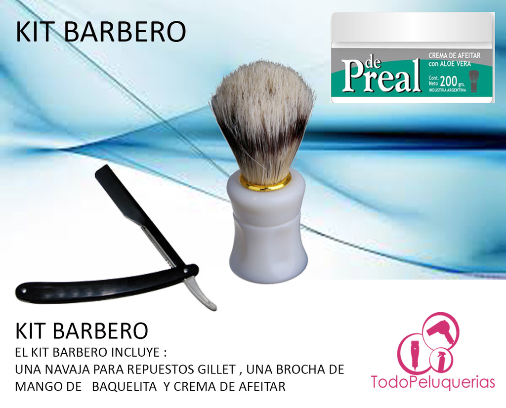 Kit Barbero Navaja Estandar * Usa Repuestos Gillette