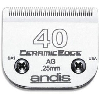 Cuchilla MARCA ANDIS Nº 40 CERAMIC EDGE (0,25 mm) Compatible con WAHL, MOSER, OSTER y GTS
