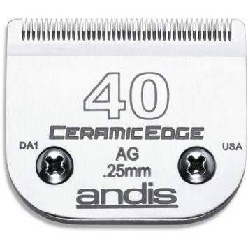 Cuchilla ANDIS Nº 40 CERAMIC EDGE (0,25 mm) Compatible con WAHL, MOSER, OSTER y GTS