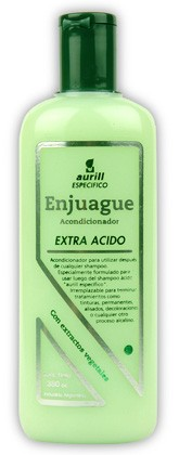 Enjuague Acondicionador pH Extra Acido Marca AURILL por 380 cc
