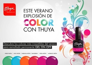 Esmalte UV TOP COAT Gel On Off Marca THUYA por 14ml. para Esmalte Semipermanente secado en Cabina UV - TODOPELUQUERIAS