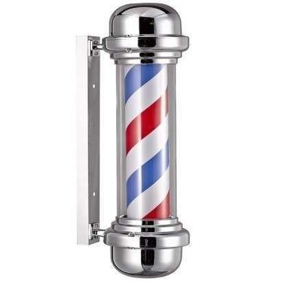 Pole * Polo Giratorio para Decoracion para Barberia / Peluqueria * Farol Giratorio Con luz MARCA EUR